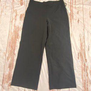 Prologue womens wide leg, mid rise pants-black-L